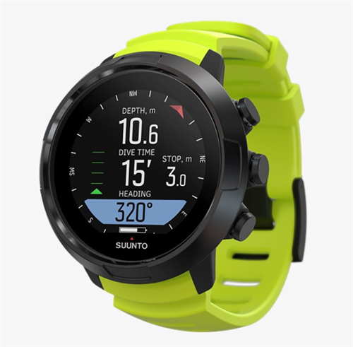 Suunto D5 dykkercomputer Black Lime